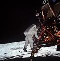 Apollo 11: Astronaut Edwin Aldrin Descends Steps of Lunar Module