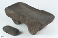 View Metate/Flat mortar and mano/grinding stone digital asset number 0