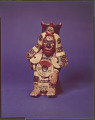 View Cholula-style male figure with attributes of Xipe Tótec (god of spring and agriculture), Tezcatlipoca (god of night and war), and Quetzalcóatl (the wind god) digital asset number 1