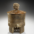 View Cylindrical tripod jar with cover digital asset number 0