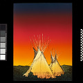 View Two Teepees at Sunset digital asset number 0