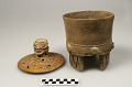 View Cylindrical tripod jar with cover digital asset number 2