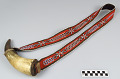 View Powder horn with bandolier strap digital asset number 0