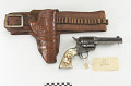 View Colt Frontier .45 caliber revolver, belt, and holster digital asset number 0