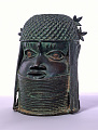View Bronze commemorative head of an oba or king digital asset number 4