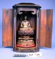 View Buddha Teaching, Lacquered And Gilt, Lacquered Wooden Shrine digital asset number 1