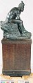 """View Bronze Statue and Base - """"Les Bantu"""" or """"The Forest Lovers"""", by Herbert Ward digital asset number 2"""