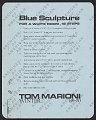 View Blue Sculpture for a White Room, 12 Steps digital asset number 1