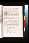 Alberti Dureri Pictoris Praestantiss Institutio