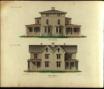 Double Cottage, No. 18. Front Elevation. Double Cottage, No. 19. Front Elevation.