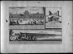 Vüe du Palais des Rois de Perse ... Coup du Pont Alyverdy ... Vüe du grand Pont d'Ispahan sur la riviere de Sendrud ...