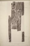 Part of a wodden lintel, probably from one of the doorways of Temple A. See Plates 69 & 74 & Pages 45-47.