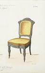 Fauteuil et chaise de salon, nouveau genre.