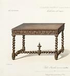 Table Guéridon (Renaissance) vieux bois.