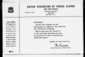view United Federation of Postal Clerks - United States War Production Board digital asset: United Federation of Postal Clerks - United States War Production Board
