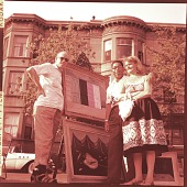 view Gertrude Abercrombie, Dizzy Gillespie and Frank Sandiford at an outdoor art exhibition digital asset number 1