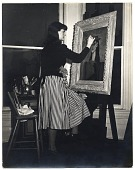 view Gertrude Abercrombie at work on a painting digital asset number 1