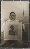 view Dizzy Gillespie with painting digital asset number 1
