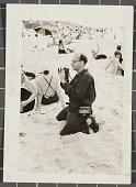 view Samuel J. Woolf taking photographs at the beach digital asset number 1