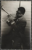 view Dizzy Gillespie playing a trumpet digital asset number 1