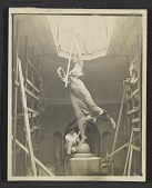 """view Robert Aitken working on the figure """"Winged Victory"""" for the Dewey Monument digital asset number 1"""