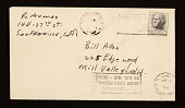 view Letter from Bruce Nauman, San Francisco, California to William George Allen, Mill Valley, California digital asset: envelope