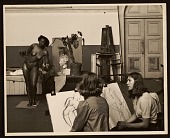 view Florence Allen posing for a drawing class at the California School of Fine Arts digital asset number 1