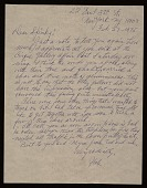 view Hale Aspacio Woodruff, New York, N.Y. letter to Charles Henry Alston digital asset number 1