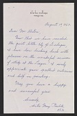 view Sister Mary Paulita Kerrigan letter to Charles Henry Alston digital asset number 1