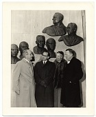 view Edmond Amateis with Eleanor Roosevelt at the Polio Wall of Fame digital asset number 1