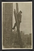 view Unidentified man erecting ladders to measure architectural components of the San Marco Basilica in Rome digital asset number 1