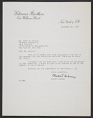 view Robert Lehman letter to Peter M. Riccio digital asset number 1