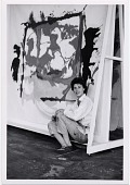 view Helen Frankenthaler in her studio digital asset number 1
