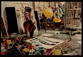 view Sam Francis working in his studio digital asset number 1