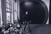 view Al Held with his work in his studio digital asset number 1