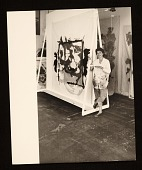 view Helen Frankenthaler with one of her paintings digital asset number 1