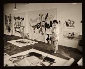 view Helen Frankenthaler in her studio digital asset number 1