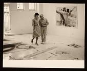 view Helen Frankenthaler and Anthony Caro in Frankenthaler's studio digital asset number 1