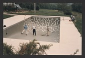 view Andre Emmerich watching David Hockney painting the interior of Emmerich's swimming pool digital asset number 1