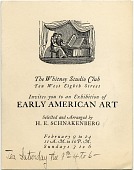 view Exhibition catalog of The Whitney Studio Club digital asset number 1