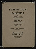 view Exhibition of paintings by Arthur B. Davies, William J. Glackens, Robert Henri, Ernest Lawson, George Luks, Maurice B. Prendergast, Everett Shinn, John Sloan digital asset number 1
