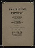 view Exhibition of paintings by Arthur B. Davies, William J. Glackens, Robert Henri, Ernest Lawson, George Luks, Maurice B. Prendergast, Everett Shinn, John Sloan digital asset number 1