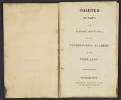 view Charter, by-laws and standing resolutions of the Pennsylvania Academy of the Fine Arts digital asset: pages 1