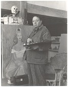 view Diego Rivera at work in his studio digital asset number 1