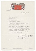 view Henry Ringling North letter to Florence Arquin digital asset number 1