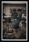 view Photograph of Anne Chu and unidentified person at Art Foundry, Santa Fe, New Mexico digital asset number 1