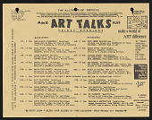 "view Artists Talk on Art records digital asset: Pre-ATOA ""Art Talks"" Flyer"