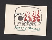 view Philip Guston Christmas card to Elise Asher digital asset number 1