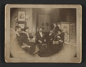 view Pete Schladermundt, Mary Bacher, Albert Perkins, Robert Blum, Otto Bacher, and an unidentified woman digital asset number 1