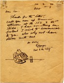view George and Will Luks letters to Samuel Ballin, [ca. 1930-1939] digital asset number 1